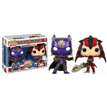 Marvel vs. Capcom: Infinite Funko Pop! Vinylfiguren Black Panther & Monster Hunter 2-Pack